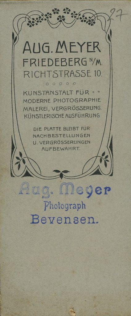 Aug. Meyer - Friedeberg n.M. - Bevensen