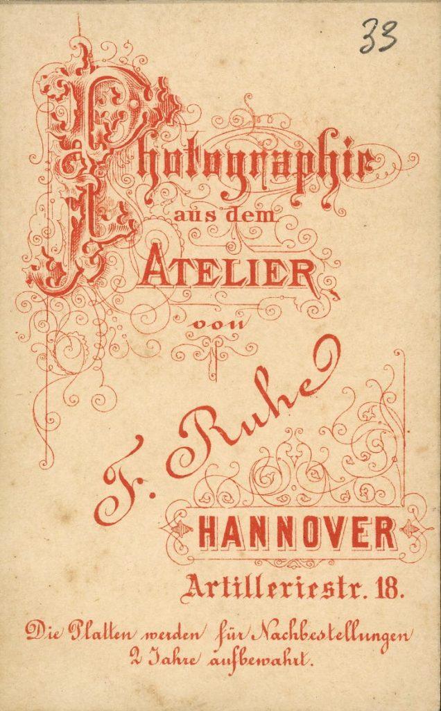 F. Ruhe - Hannover