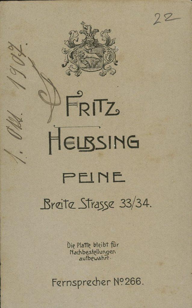 Fritz Helbsing - Peine