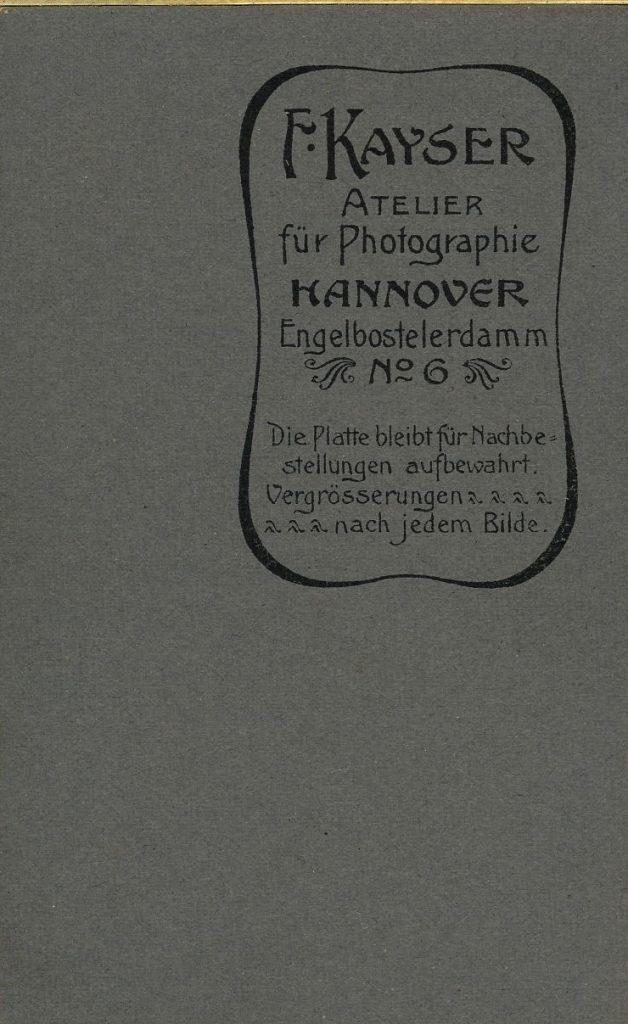 F. Kayser - Hannover