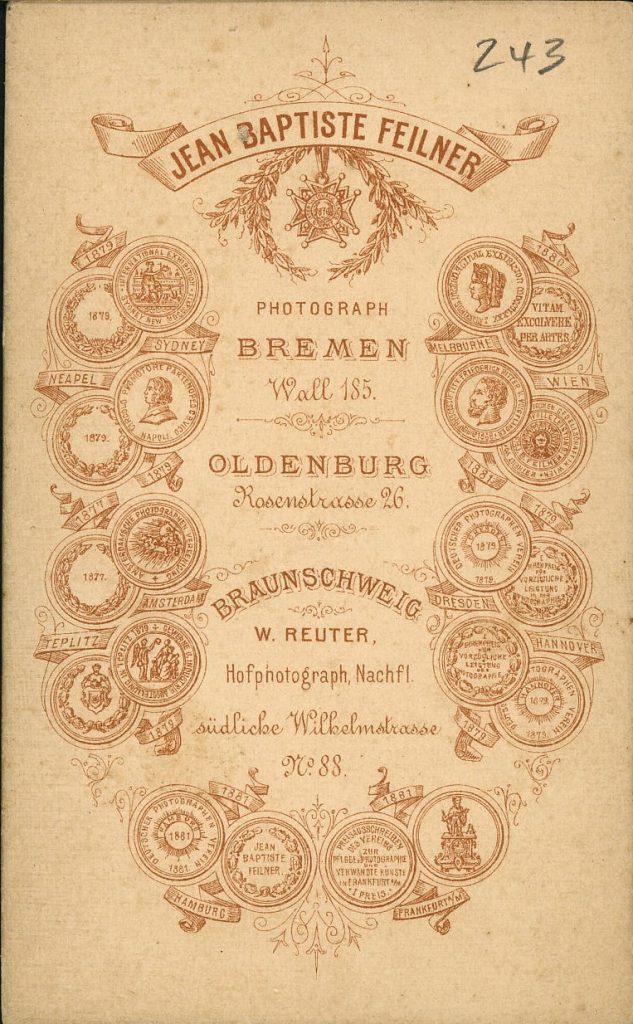 Jean Baptiste Feilner - W. Reuter - Bremen - Oldenburg - Braunschweig