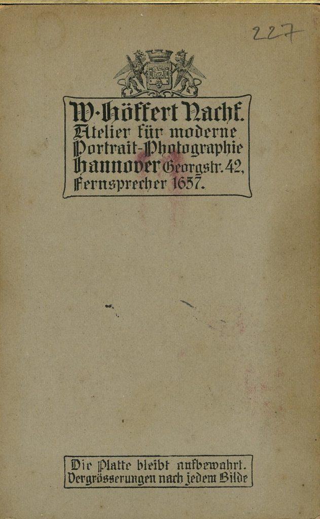 W. Höffert Nachf. - Hannover