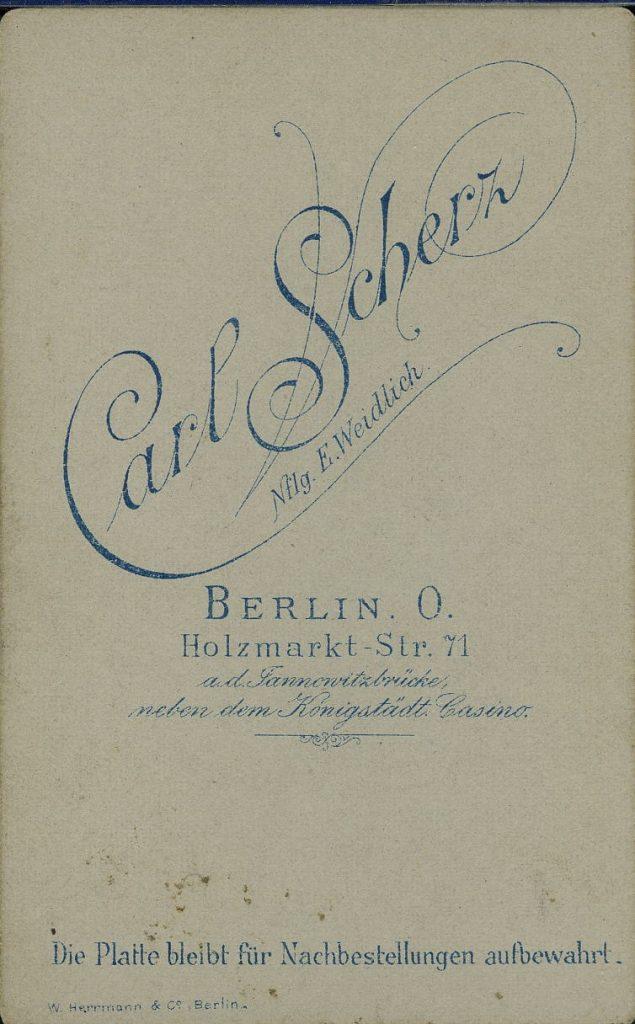 Carl Scherz - Berlin