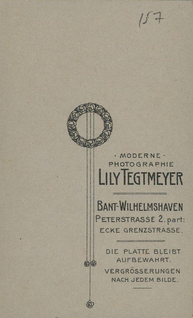 Lily Tegtmeyer - Bant-Wilhelmshaven