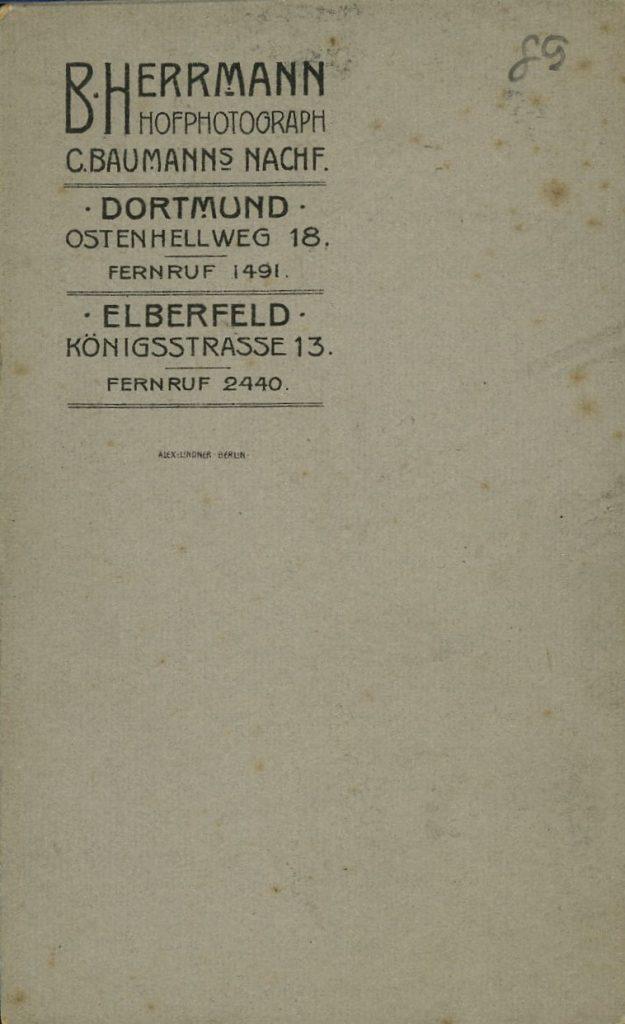 B. Herrmann - C. Baumann - Dortmund - Elberfeld