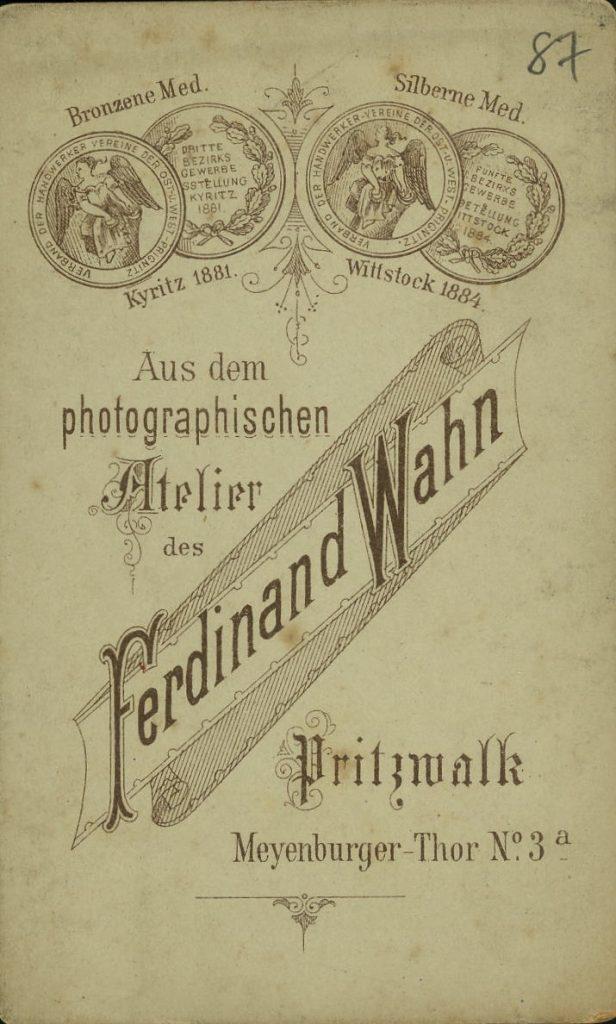 Ferdinand Wahn - Pritzwalk