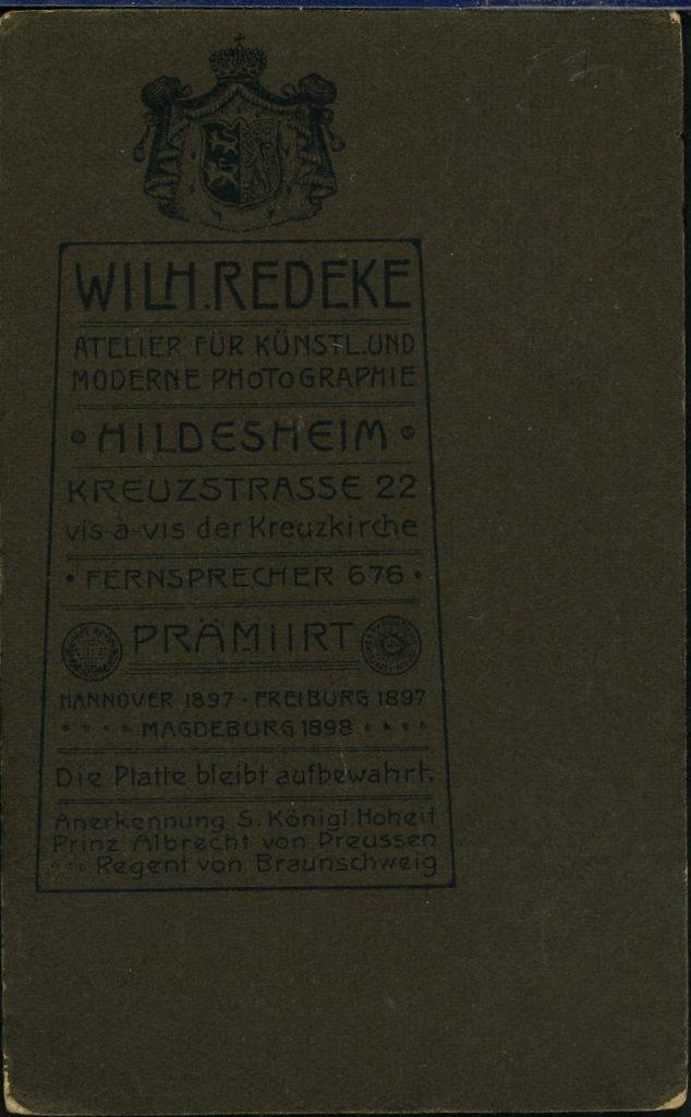 Wilh. Redeke - Hildesheim