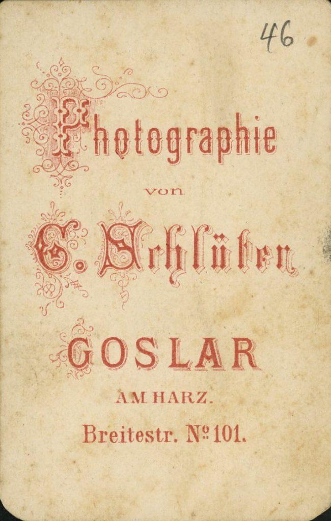 G. Schlüter - Goslar a.H.