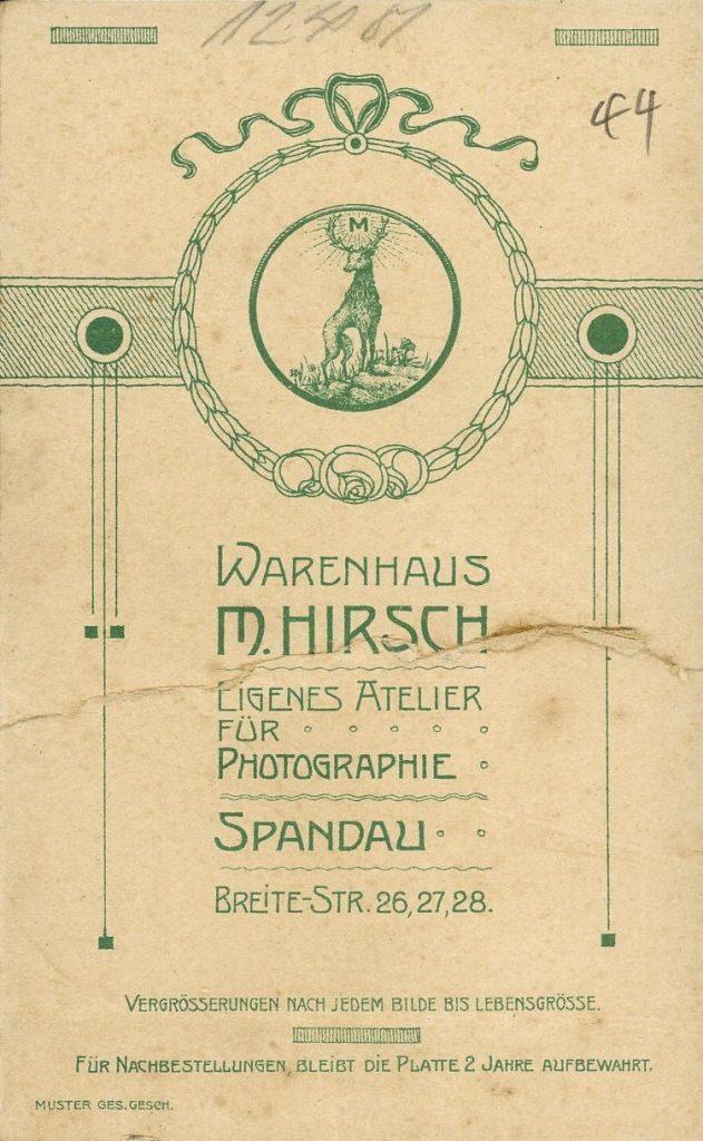 Warenhaus M. Hirsch - Spandau
