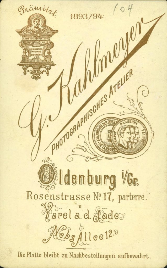 J. Kahlmeyer - Oldenburg i.Gr - Yarel a.J.