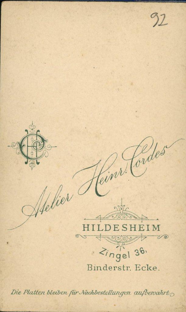 Heinr. Cordes - Hildesheim
