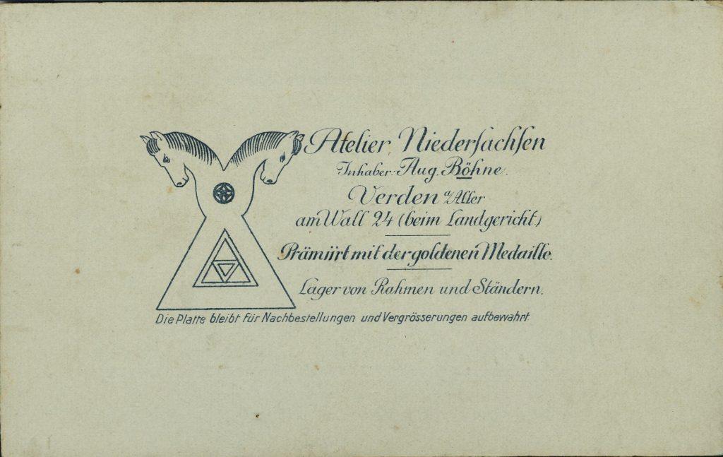 Atelier Niedersachsen - Aug. Böhne - Verden
