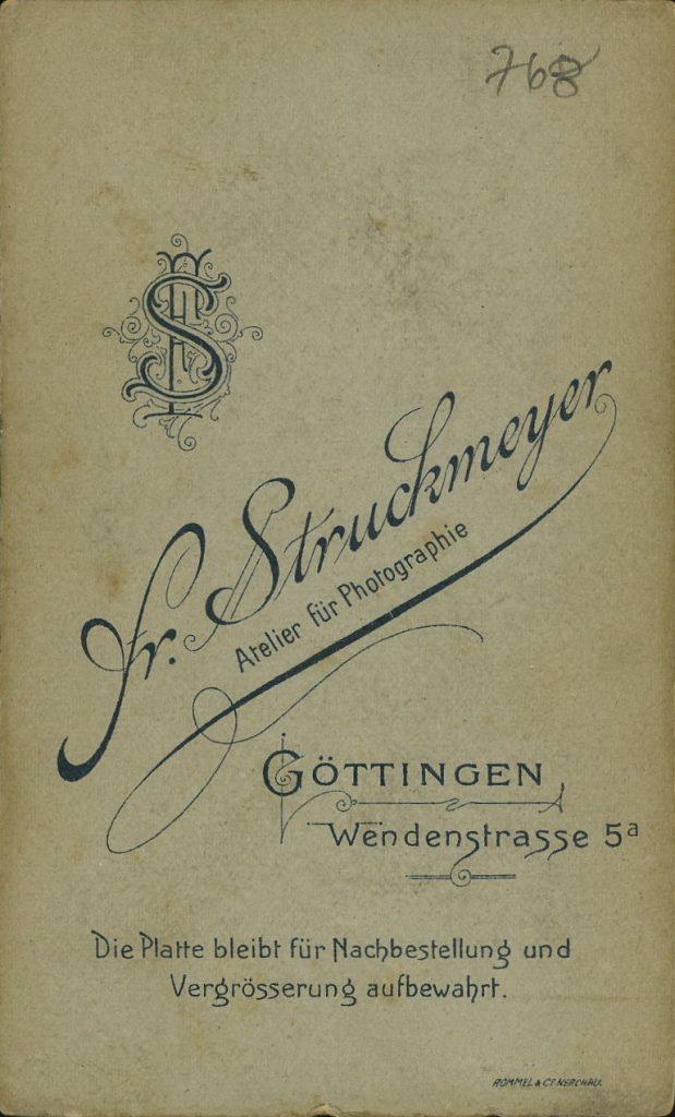 Fr. Struckmeyer - Göttingen