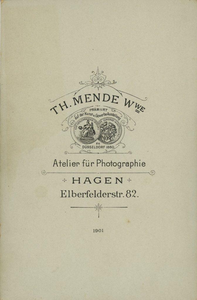 Th. Mende Wwe - Hagen i.W