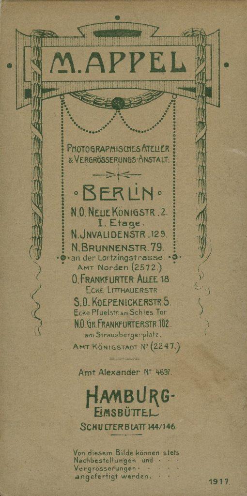 M. Appel - Berlin - Hamburg-Elmsbüttel