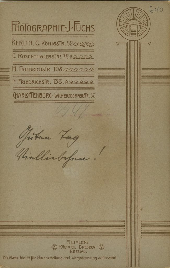 J Fuchs - Berlin - Charlottenburg - Dresden - Breslau - Köln a.Rh