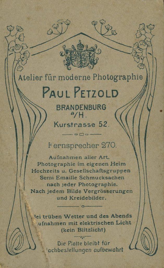 Paul Petzold - Brandenburg a.H.