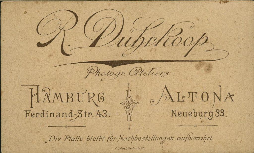 R. Dührkoop - Hamburg - Altona