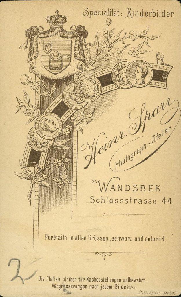 Heinr. Sparr - Wandesbek