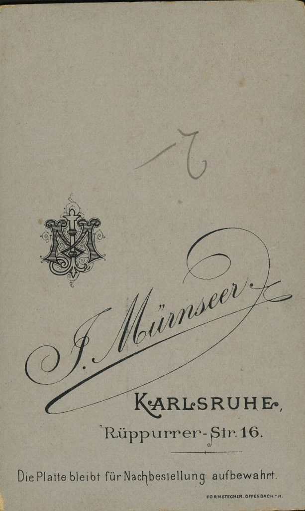 F. Mürnseer - Karlsruhe