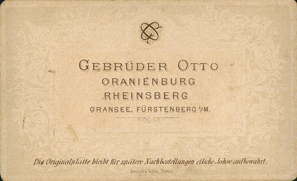 Gebrüder Otto - Oranienburg - Rheinsberg - Gransee - Fürstenberg i.M.