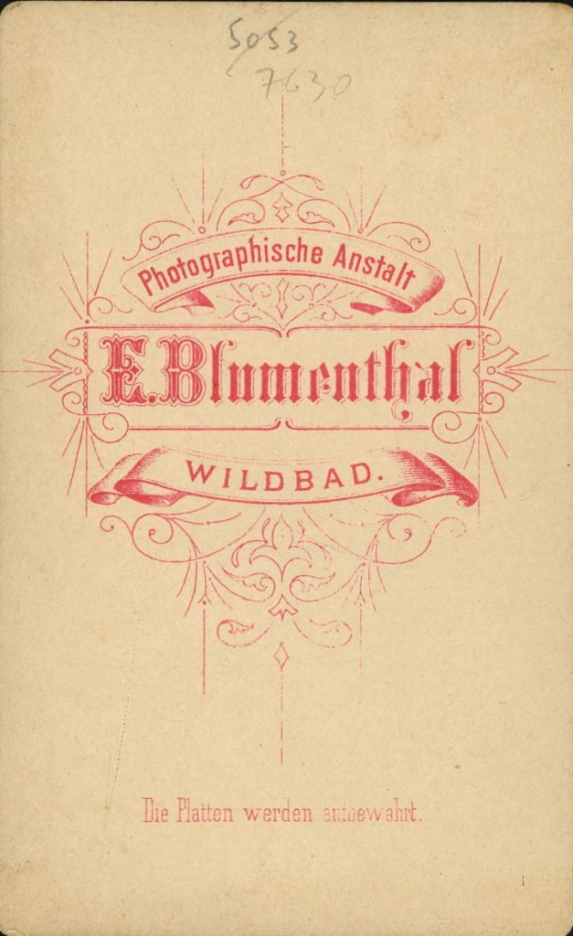 E. Blumenthal - Wildbad