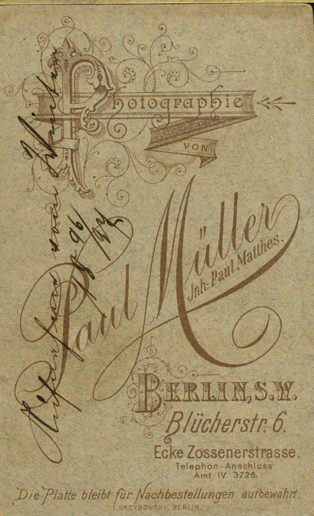 Paul Müller - Berlin - Paul Matthes