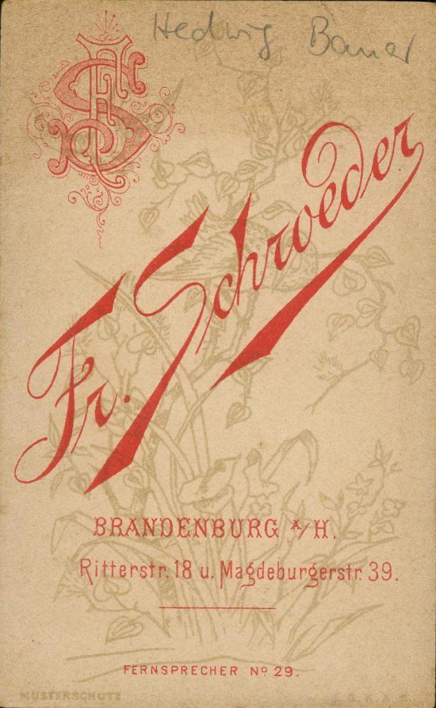 Fr. Schroeder - Brandenburg a.H.