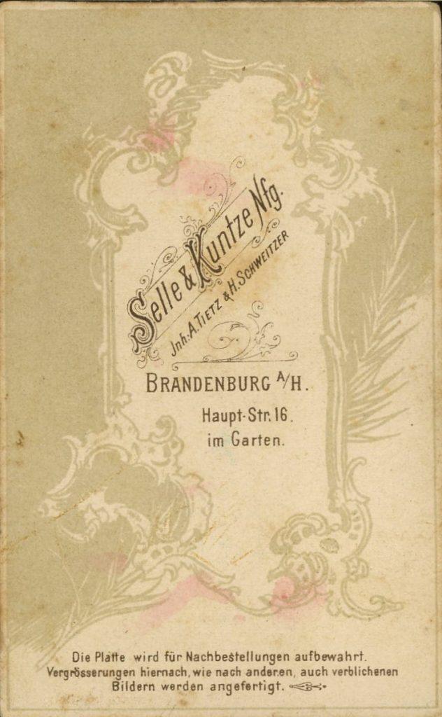 Selle - Kuntze - A. Tietz - H. Schweitzer -Brandenburg a.H.