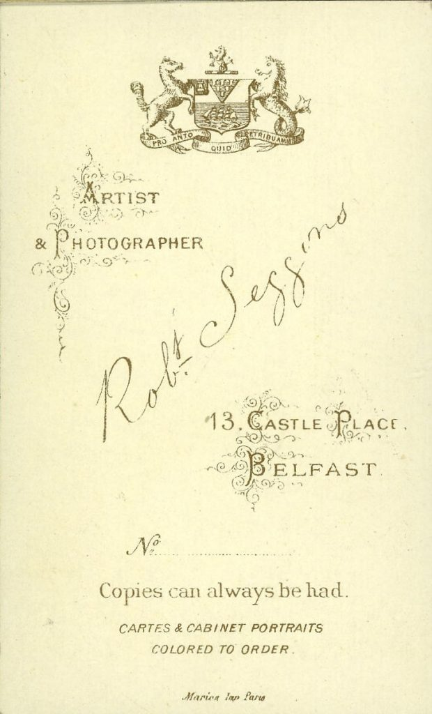 Robt. Seggons - Belfast