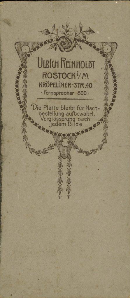 Ulrich Reinholdt - Rostock i.M.