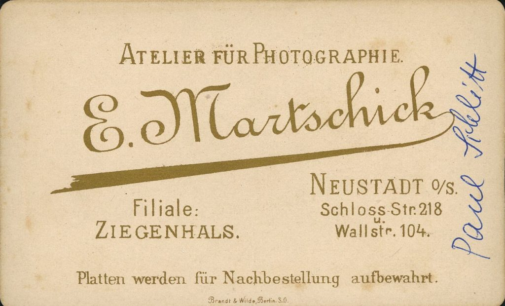 E. Martschick - Neustadt o.S. - Ziegenhals