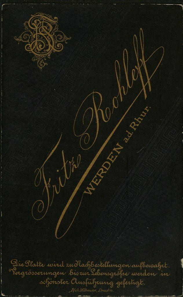 Fritz Rohleff - Werden a.d.Rhur