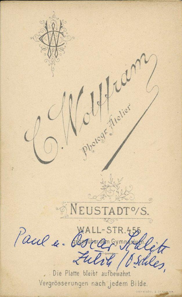 C. Wolffram - Neustadt o.S.