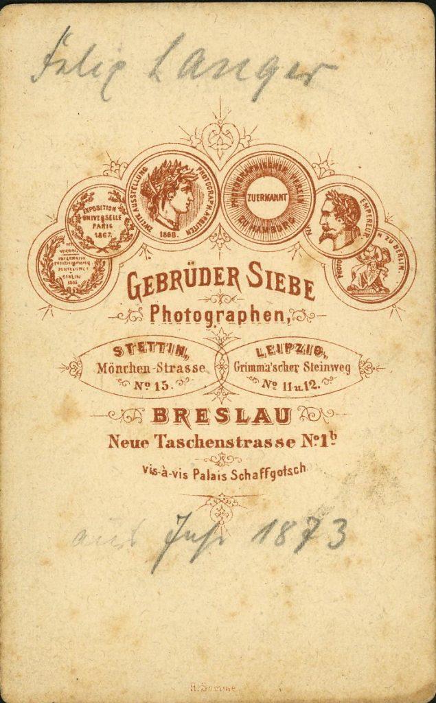 Gebrüder Siebe - Breslau - Stettin - Leipzig