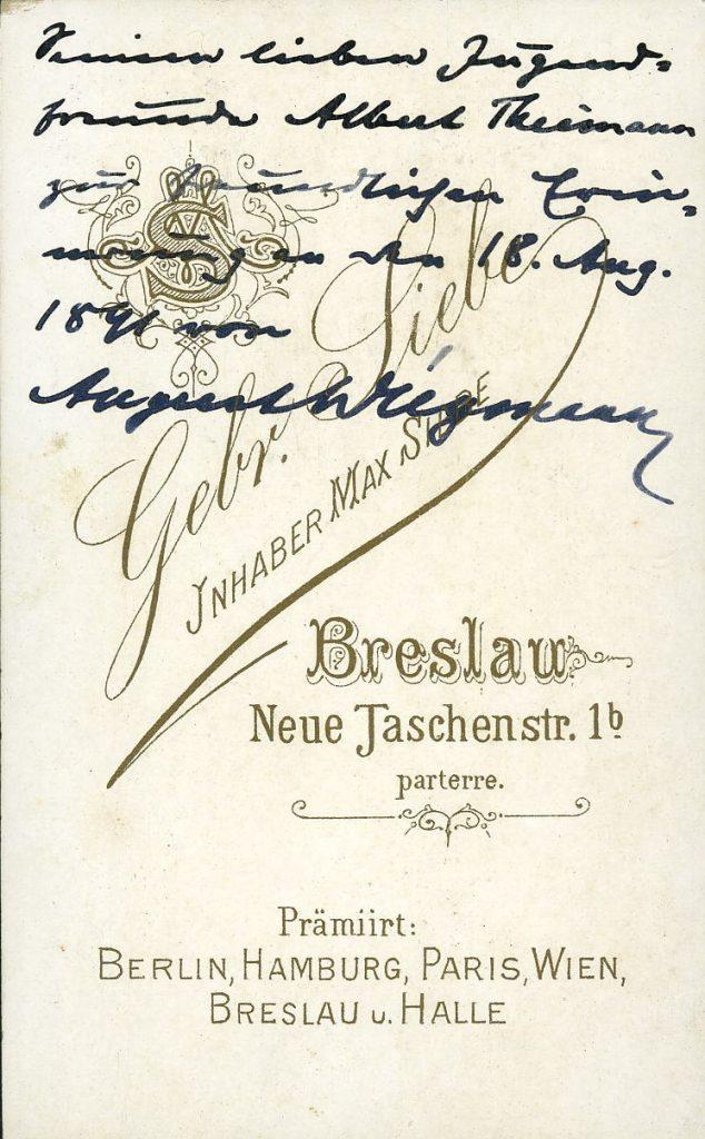 Gebr. Siebe - Max Siebe - Breslau