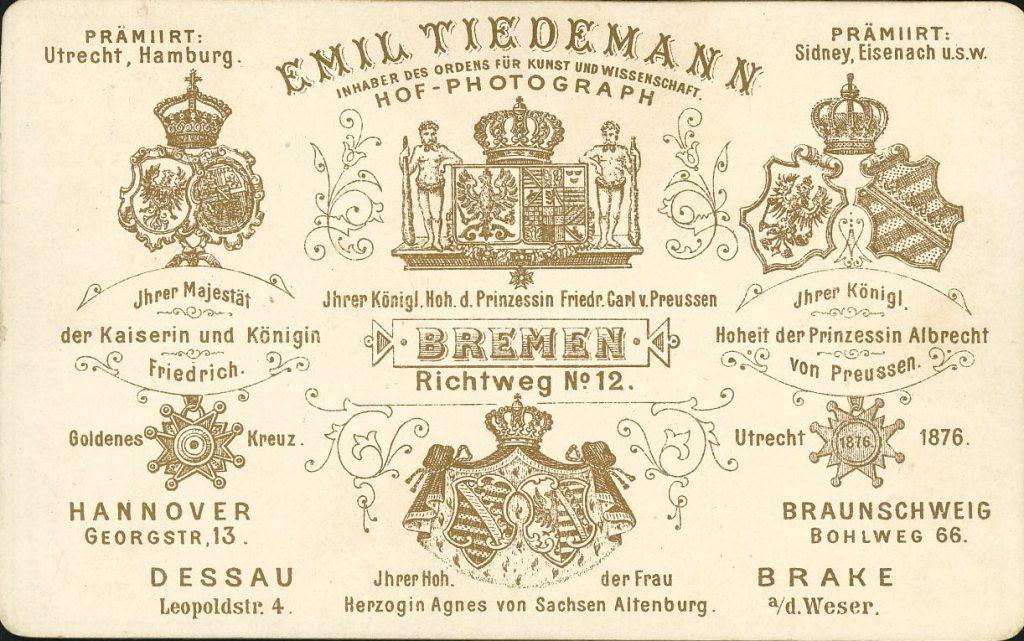 Emil Tiedemann - Bremen - Hannover - Dessau - Braunschweig - Brake a.W.