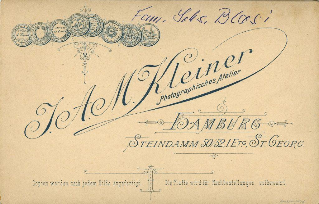 J. A. M. Kleiner - Hamburg-St Georg