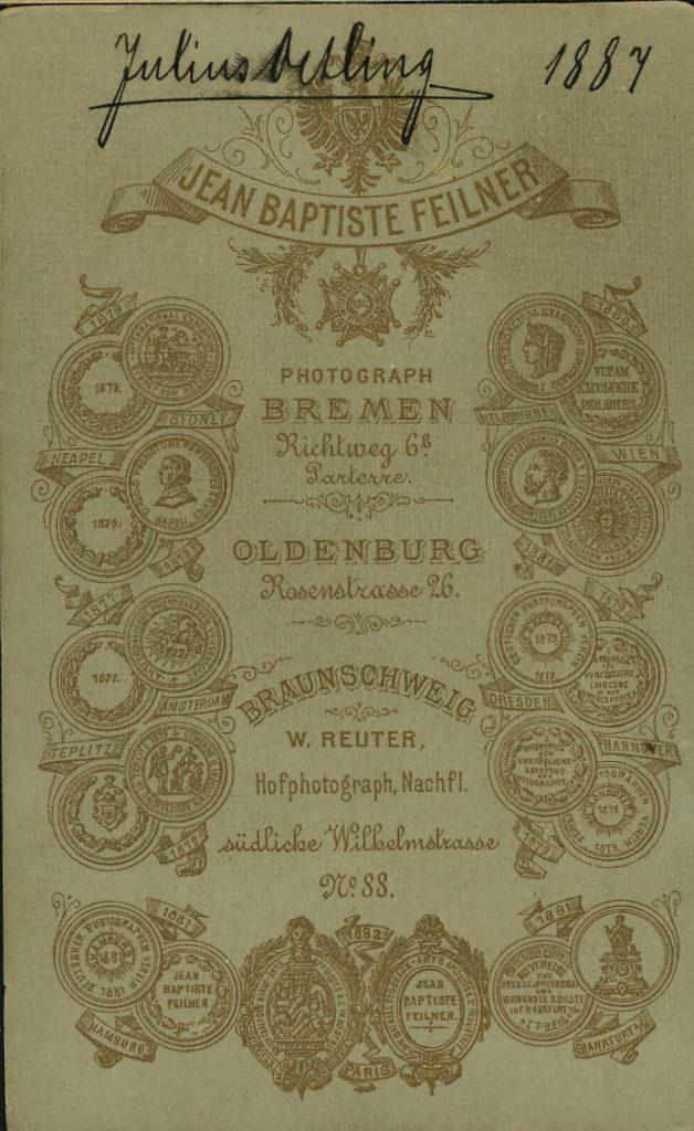 Jean Baptiste Feilner - W. Reuter - Oldenburg - Braunschweig - Bremen