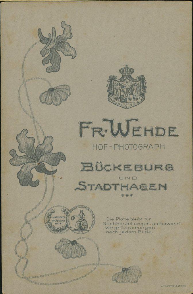 Fr. Wehde - Bückeburg - Stadthagen
