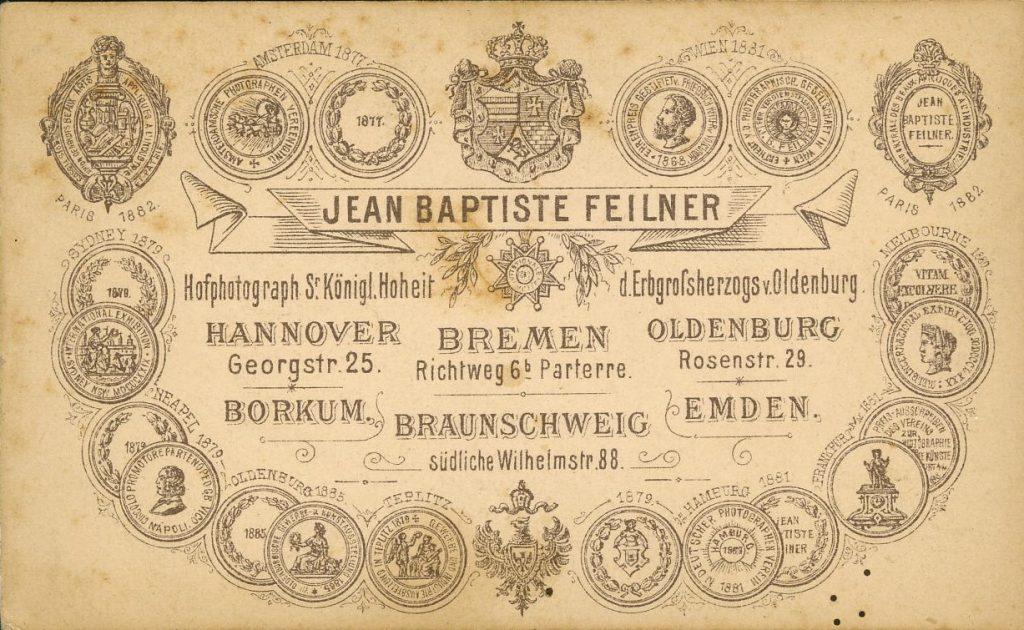 Jean Baptiste Feilner - A. Mohaupt - Braunschweig - Bremen - Hannover - Emden - Borkum - Oldenburg