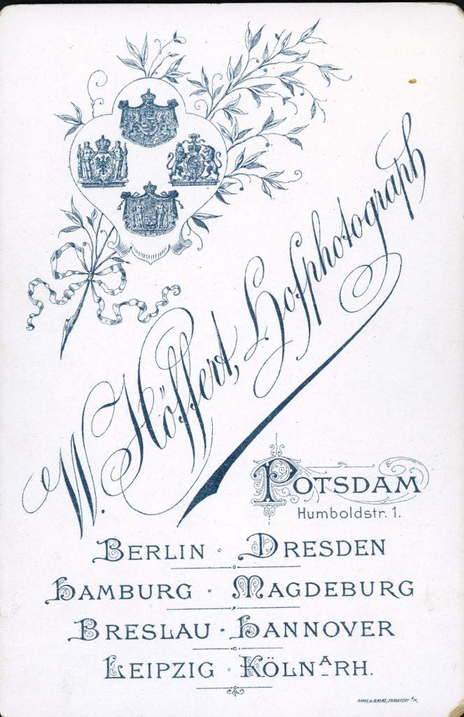 W. Höffert - Potsdam - Berlin - Dresden - Hamburg - Leipzig - Hannover - Köln a.Rh - Breslau - Magdeburg