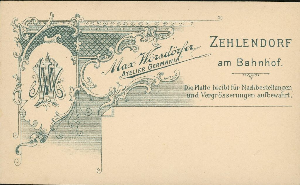 Max Wörsdörfer - Zehlendorf