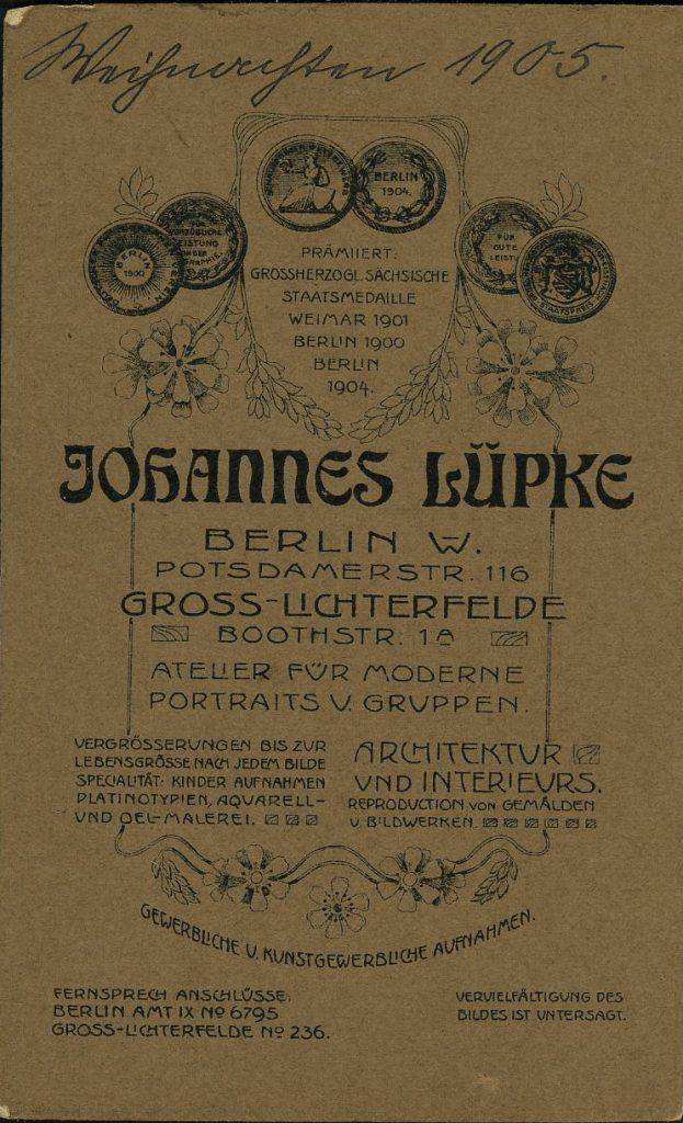 Johannes Lüpke - Berlin - Gross-Lichterfelde