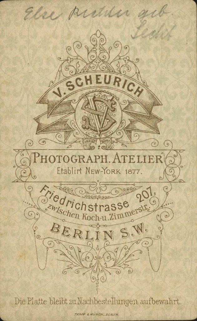 V. Scheurich - Berlin