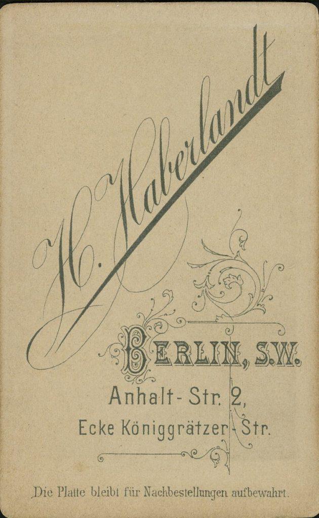 H. Haberlandt - Berlin