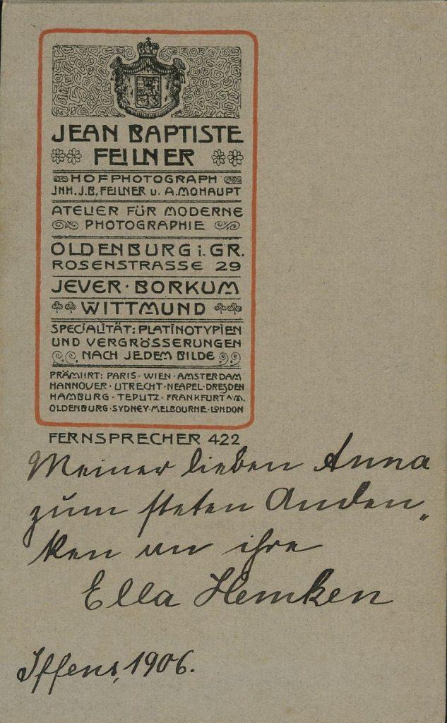 Jean Baptiste Feilner - A. Mohaupt - Oldenburg - Jever - Borkum - Wittmund