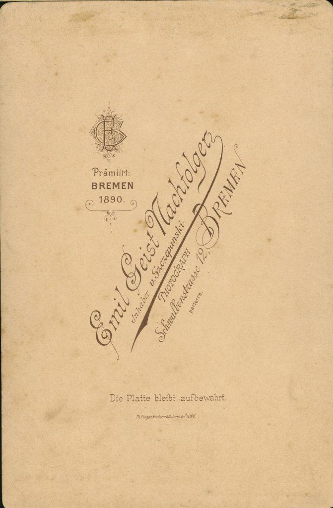 Emil Geist - v. Szozepanski - Bremen