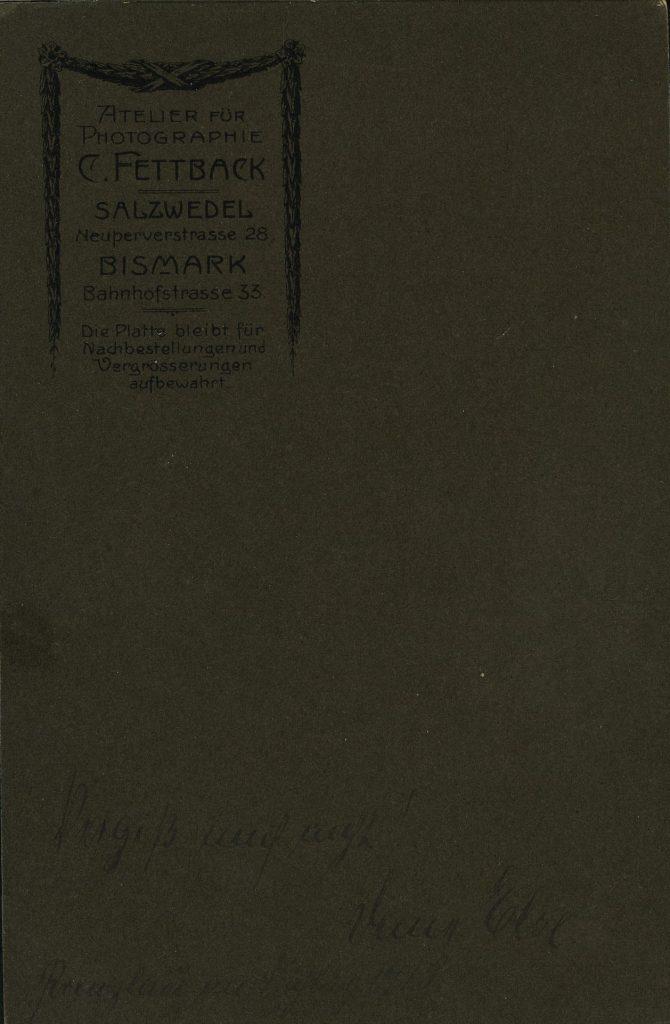 C. Fettback - Salzwedel - Bismark