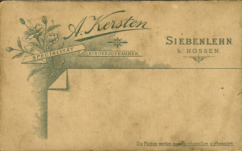 A. Kersten - Siebenlehn b. Nossen